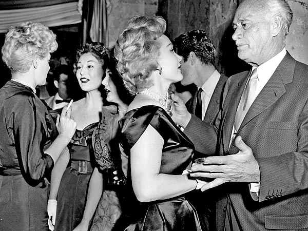 zsa zsa gabor and conrad hilton 1954 AP