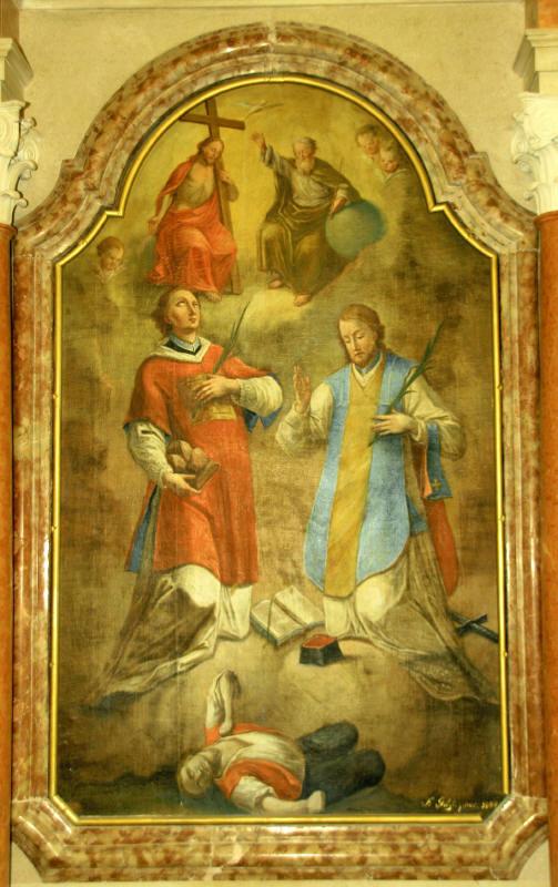 Sv. Štefan in sv. Valentin Log pod Mangartom