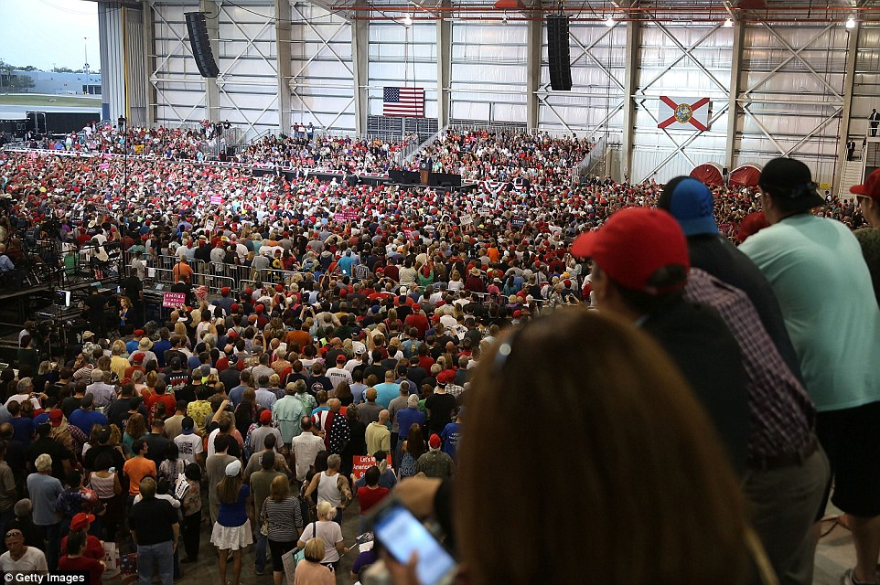 3D6576C700000578 4238426 Thousands of peole listen as President Donald Trump speaks durin a 62 1487463282195