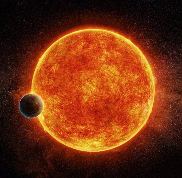ΕξωπλανήτηςLHS1140bκαιτοάστροτου καλλιτεχνικήαπεικόνισηΠηγήM.Weiss CfA