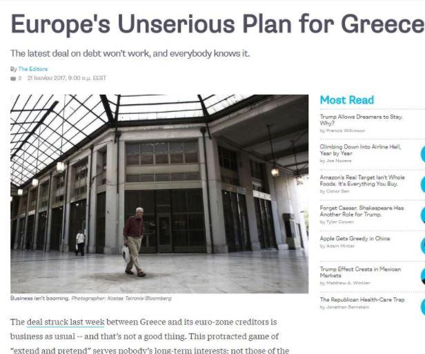 blo Ανάλυση-σοκ του Bloomberg: Όλοι ξέρουν πως η συμφωνία στο Eurogroup θα αποτύχει