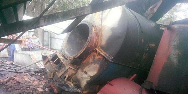 Boiler explosion