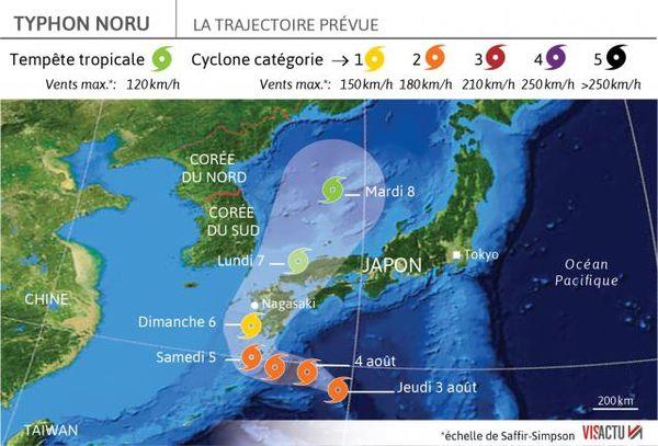 noru premier super typhon de l annee atteindra le japon vendredi 0