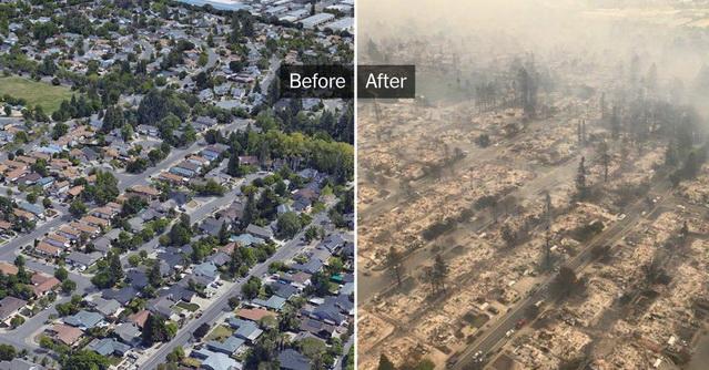 california fires maps photos