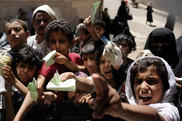 Yemen Children trying