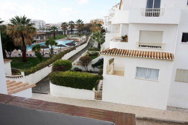 Madeleine McCann Apartment blocks Praia da Luz Portugal