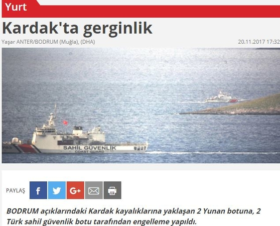 Τουρκικοί «ψευτοτσαμπουκάδες» στα Ίμια Προσπάθησαν να στήσουν νέο θερμό επεισόδιο