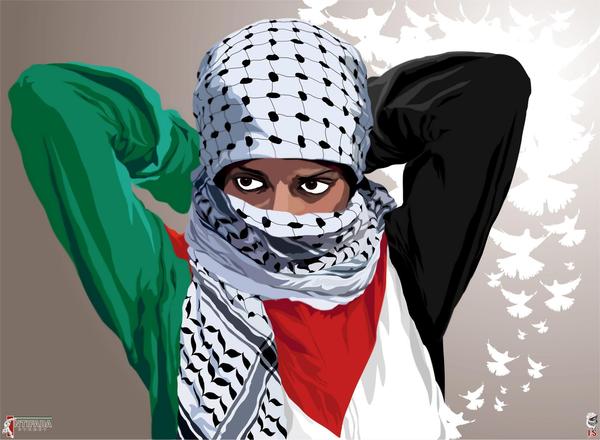 revolutionary woman intifada street by quadraro d5ljfpr