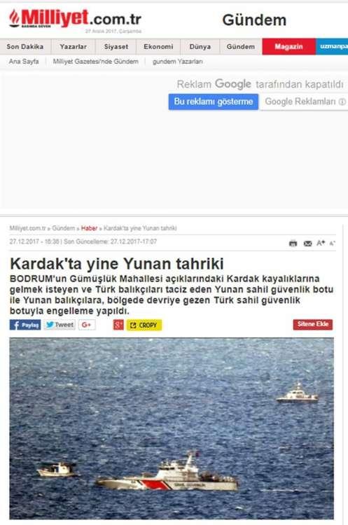 «Ναυμαχία» στα Ίμια Στήνουν «θερμό» επεισόδιο οι Τούρκοι
