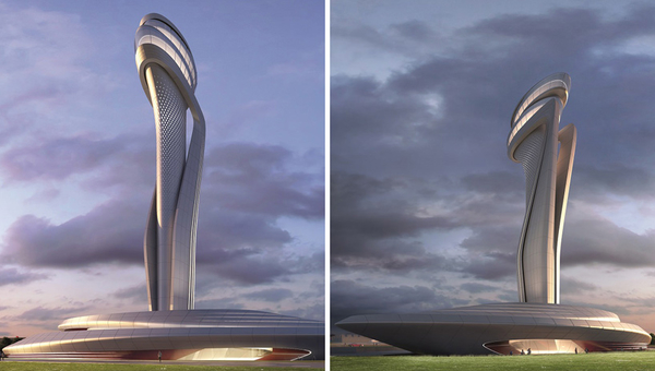 istanbul new airport airport traffic control tower competition zaha hadid moshe safdie fuksas designboom 04