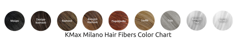 KMax Milano Hair Fibers color chart