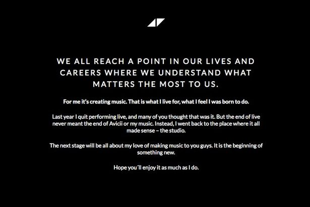 Avicii retirement