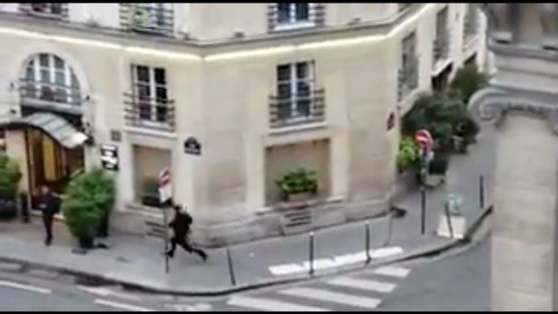 A man attacked bystanders with aknife in the heart of Paris
