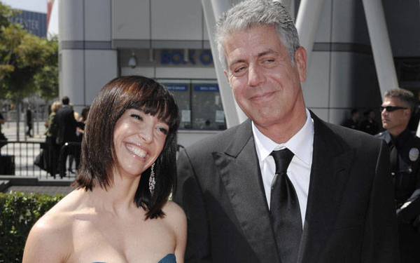 ottavia busia splits from her husband anthony bourdain after 10 long years of marriage