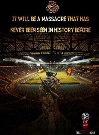 world cup 2018 terrorist isis russia saudi arabia jihad luzhniki stadium football putin 1361974