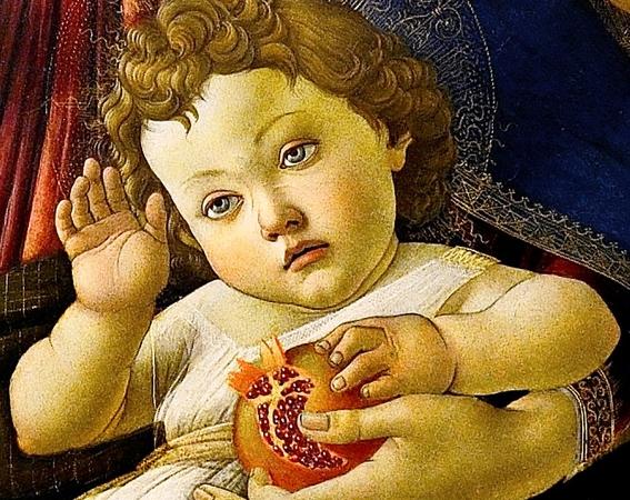 Madonna della Melagrana Botticelli 3