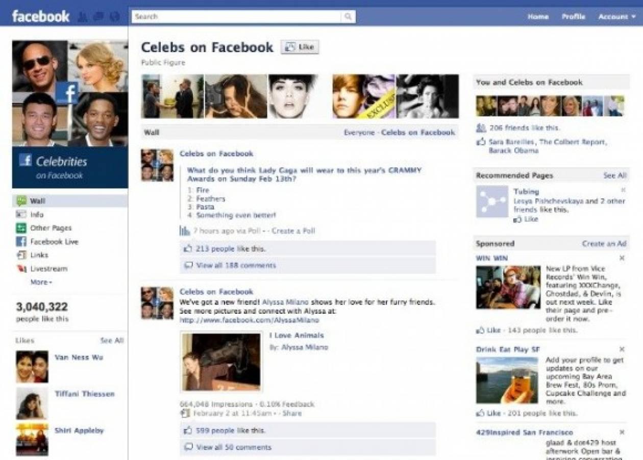 Facebook: Αλλαγές στα Pages και στην προβολή φωτογραφιών