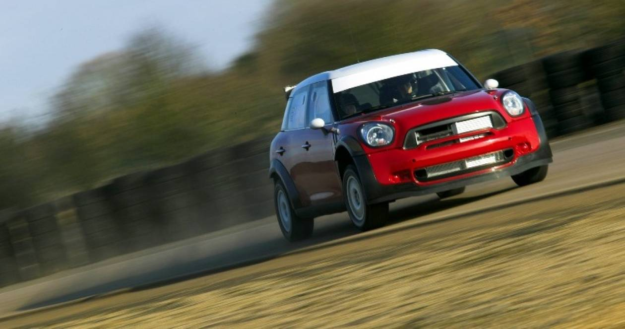 Το Mini WRC σε δοκιμές
