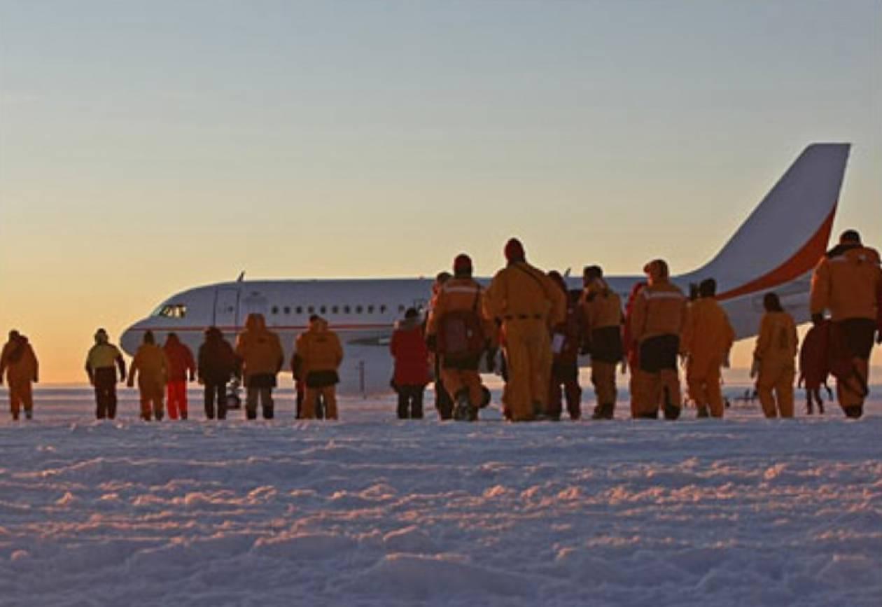 «Λιώνει»  το αεροδρόμιο της Ανταρκτικής