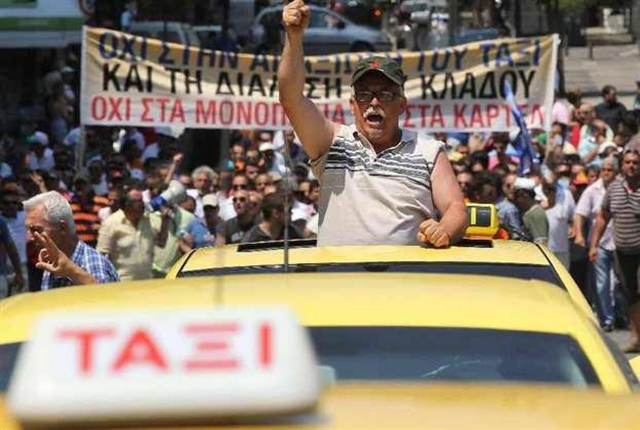 """Ταξιτζήδες: """"Θα υπάρξουν και νεκροί αν χρειαστεί""""!"""