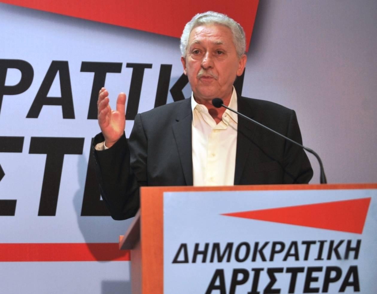 Φ. Κουβέλης: «Ανάσα για τη χώρα ο συμβιβασμός»