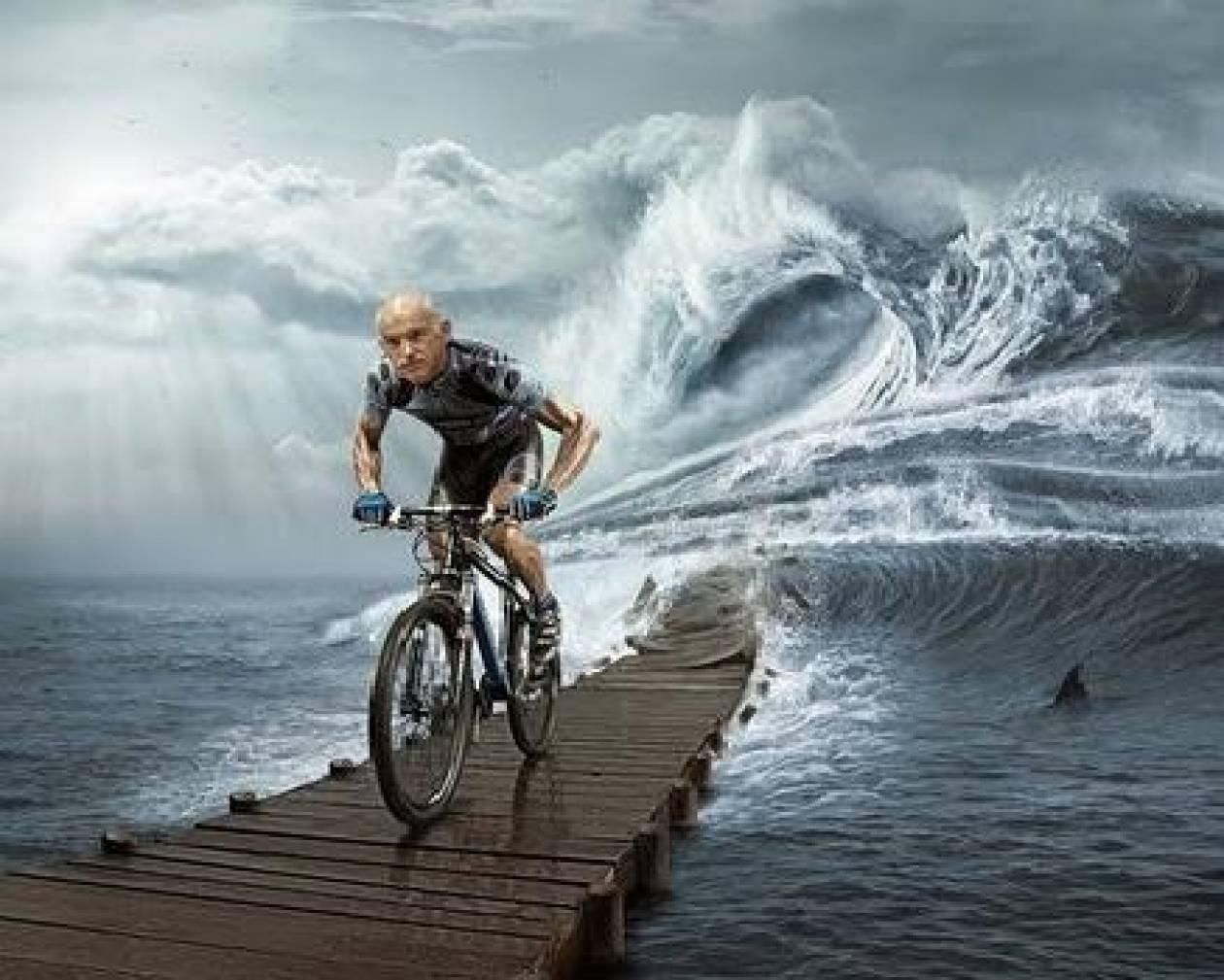 Γιωργάκη, άσε το ποδήλατο και πάρε ταξί!