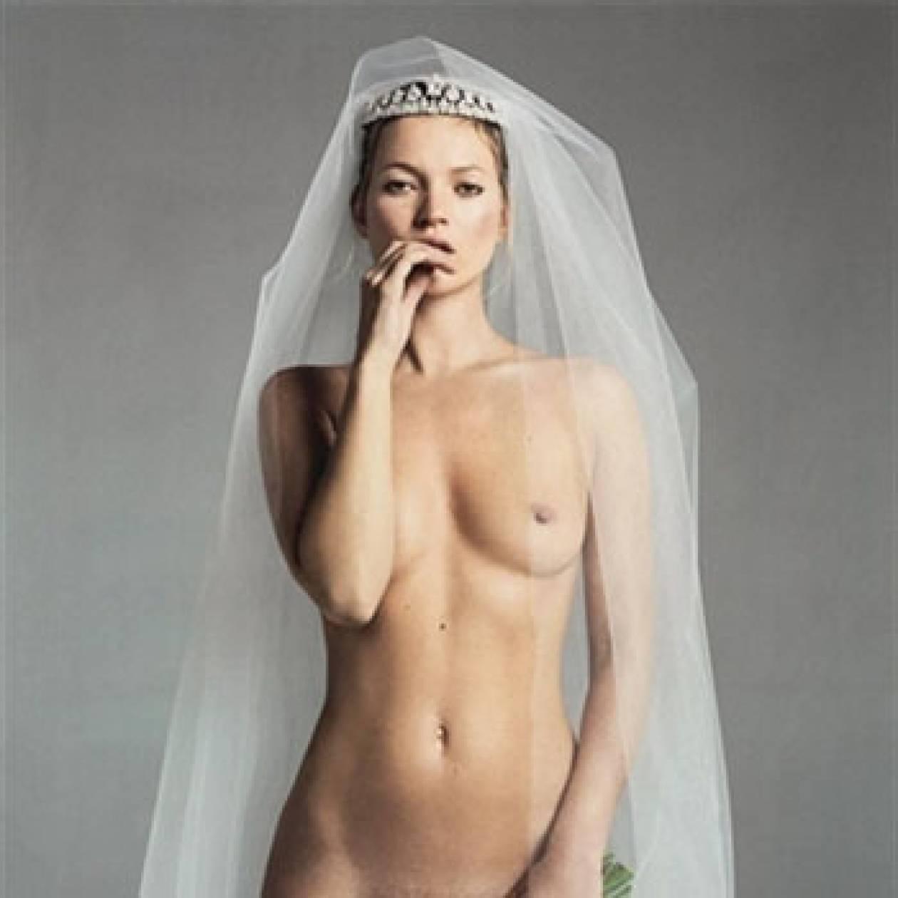 H Kate Moss θα δοκιμάζει νυφικά στο νέο τεύχος της Vogue