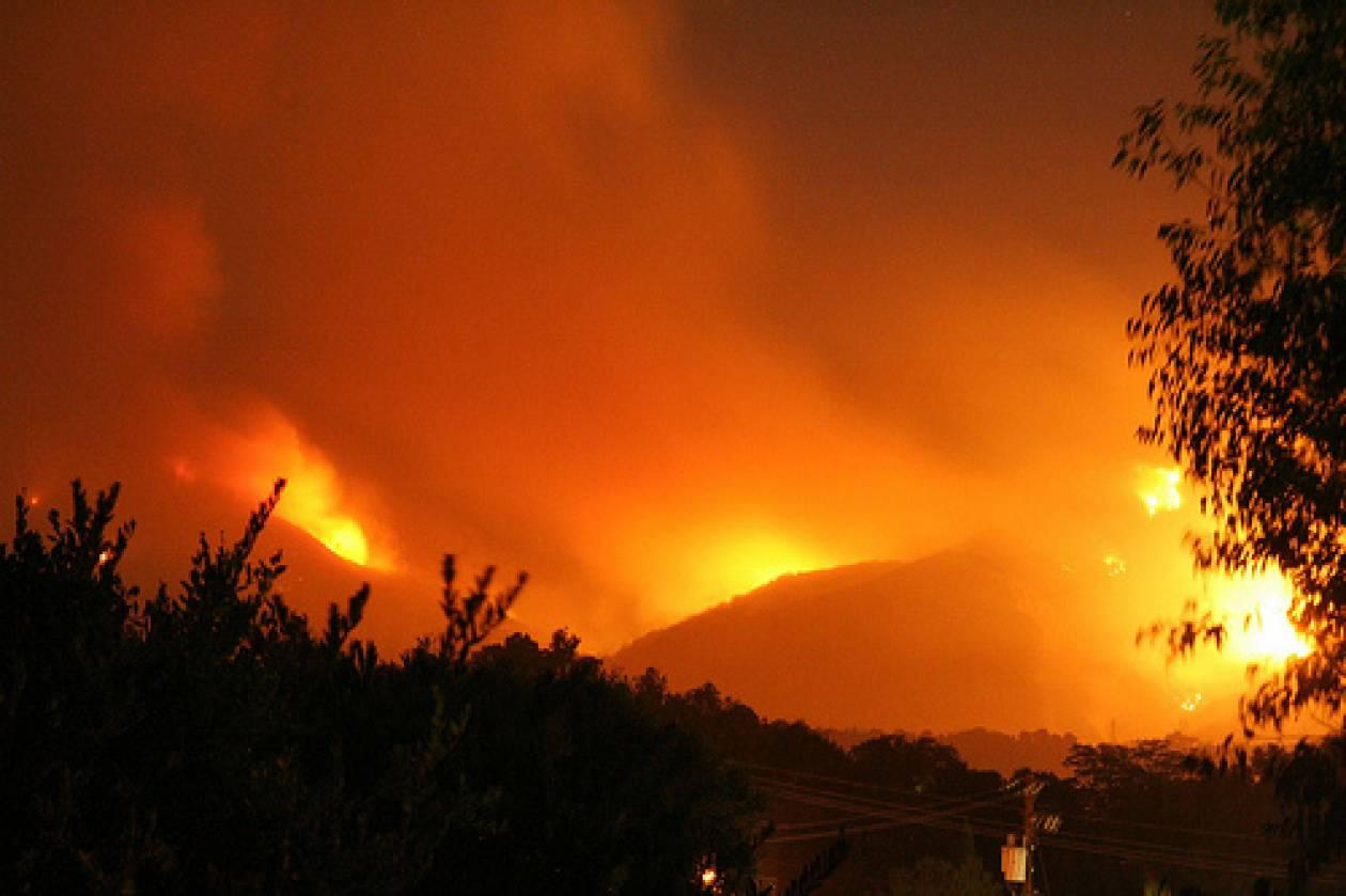 Υπό έλεγχο η φωτιά στην Πάρνηθα