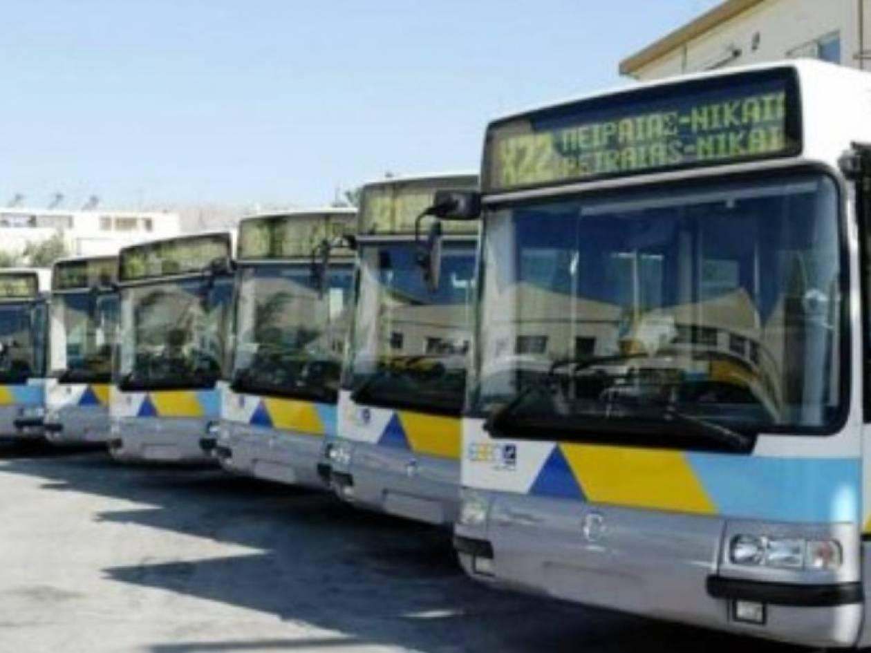 Στάση εργασίας σε λεωφορεία και τρόλεϊ