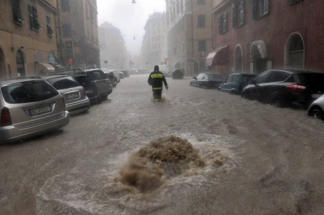 Σφοδρές βροχοπτώσεις στην Ιταλία