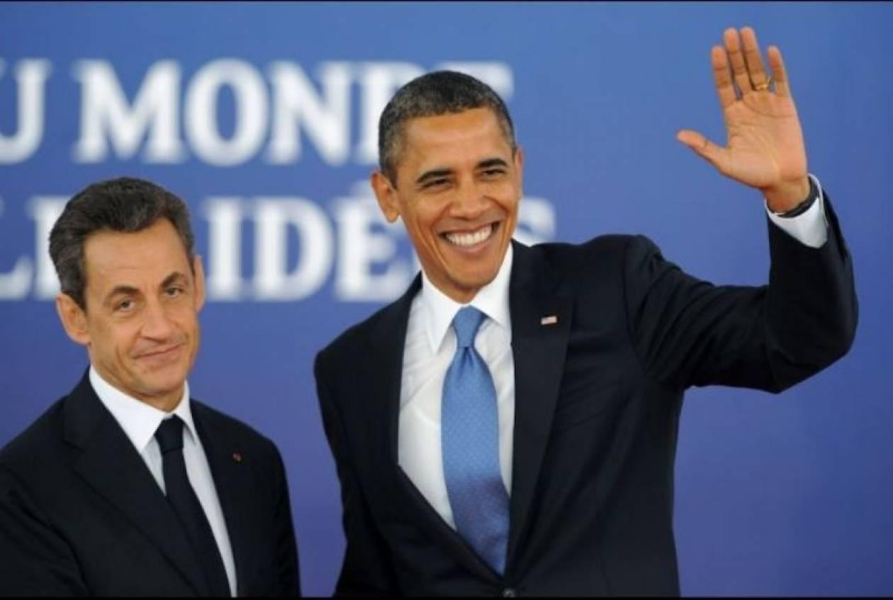 Κάννες: Εγκωμιαστικό «adieu» Σαρκοζί για Ομπάμα
