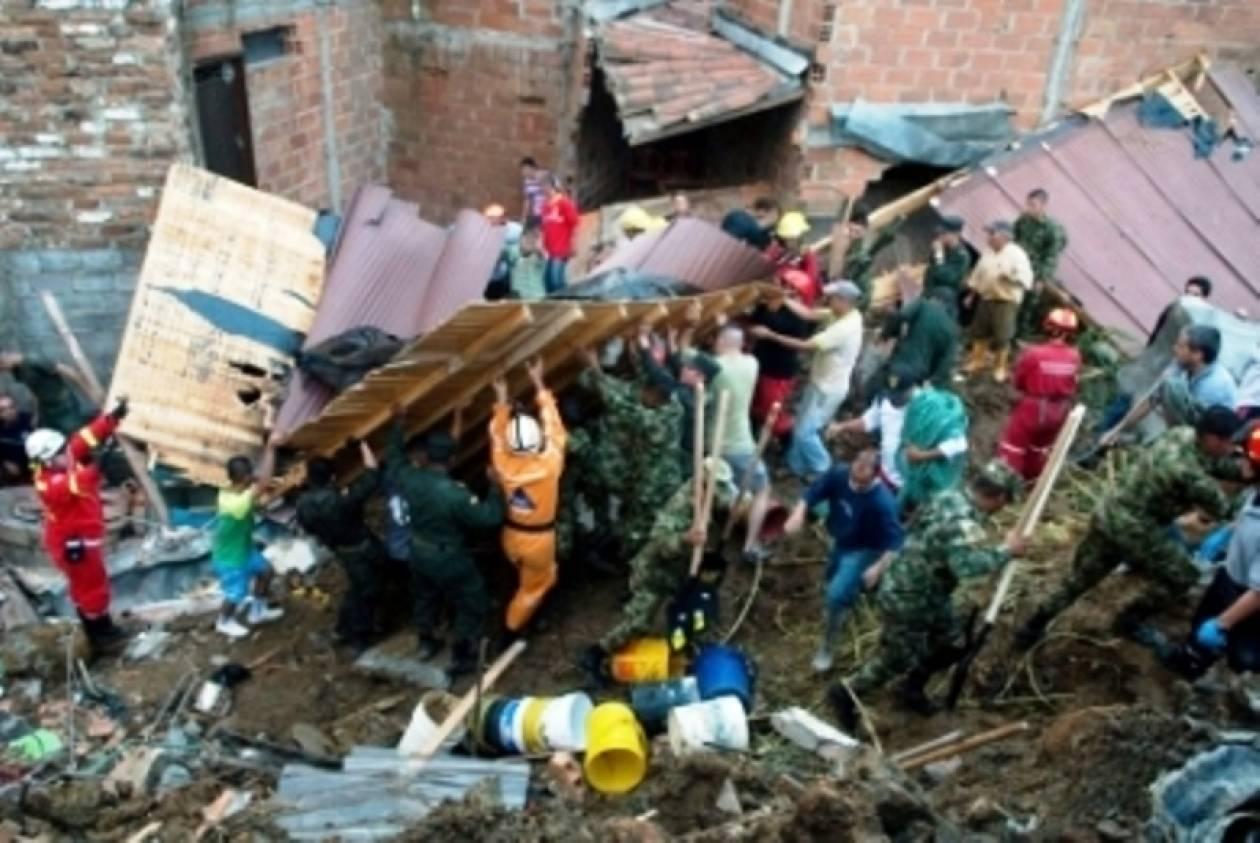 Δέκα νεκροί ώς τώρα από τις κατολισθήσεις στην Κολομβία