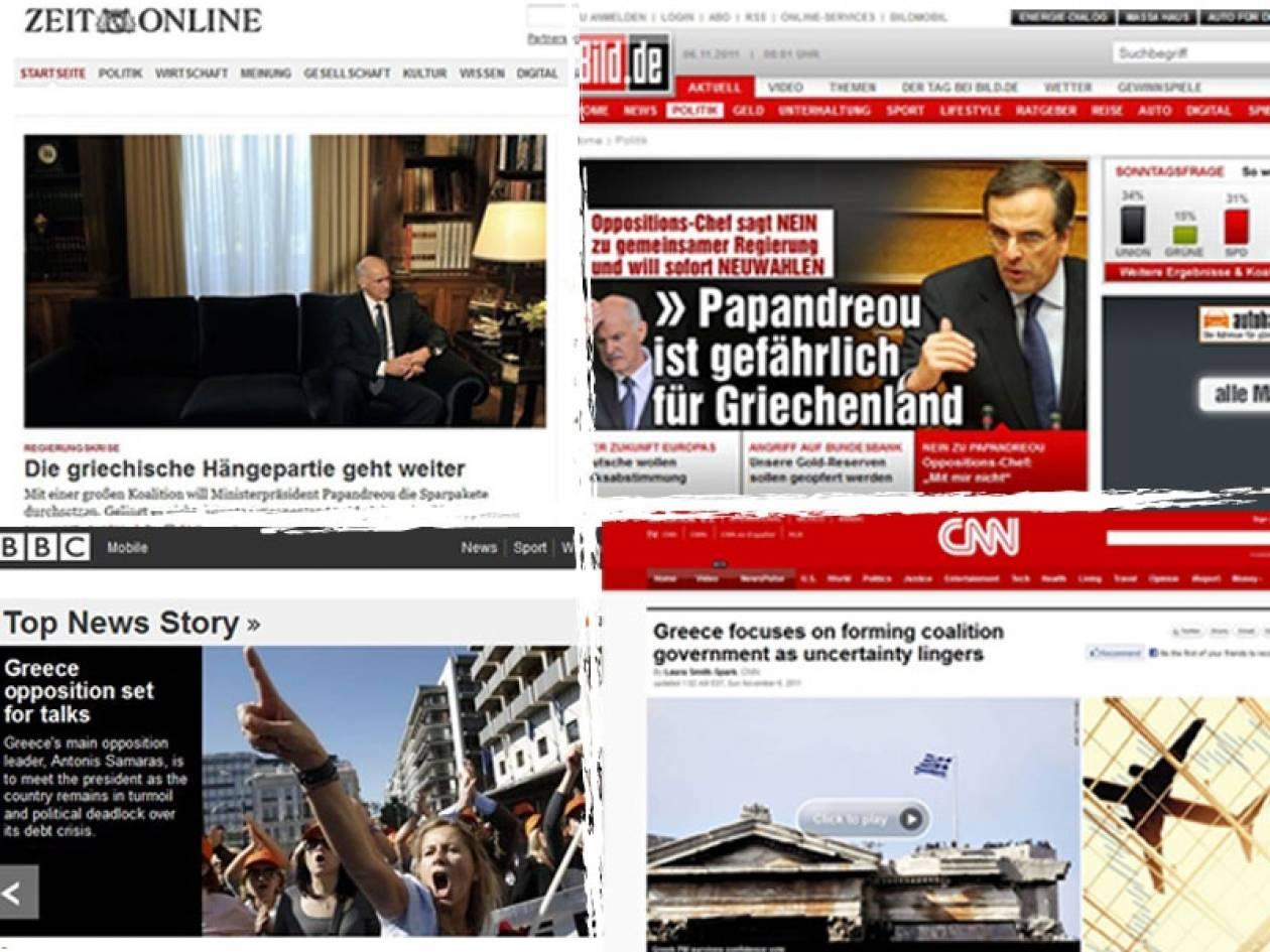 Πρωτοσέλιδο (ξανά) οι πολιτικές εξελίξεις στην Ελλάδα
