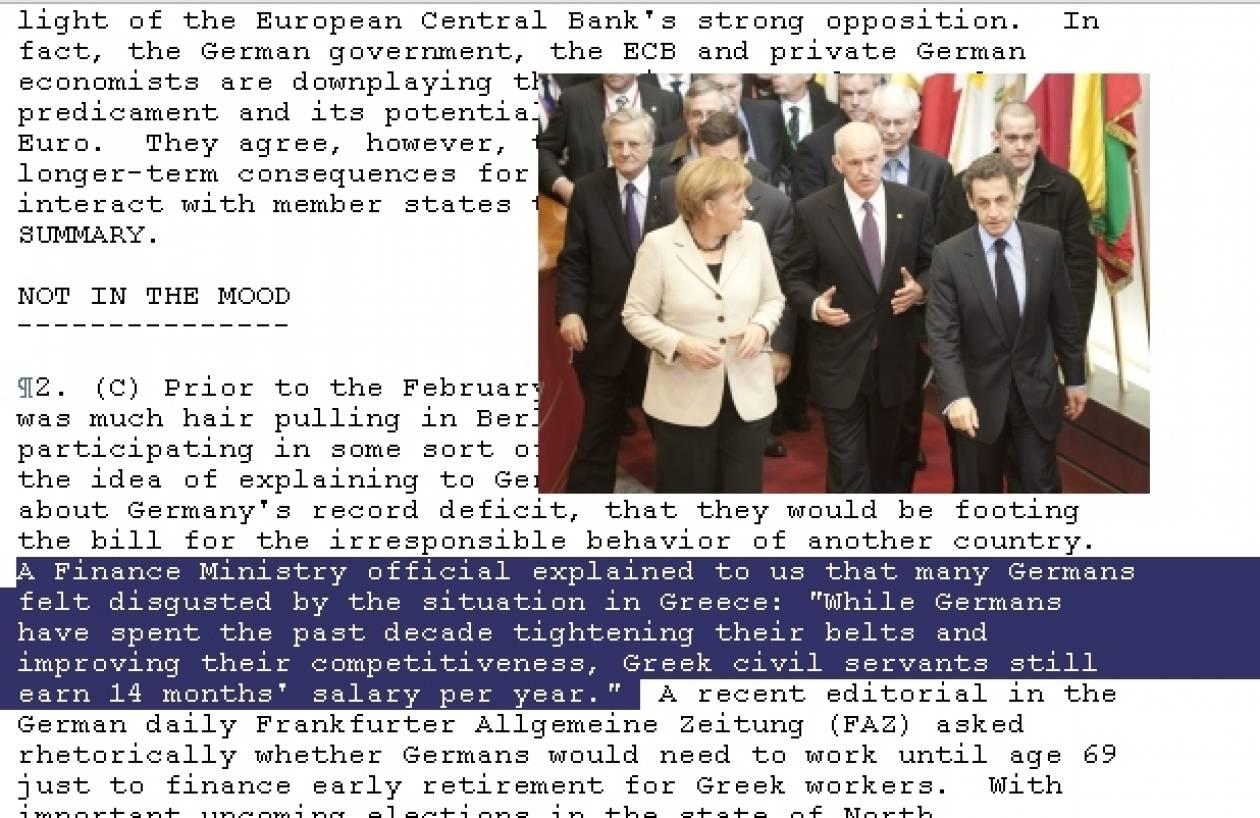 Τα Wikileaks, η Ελλάδα, το ευρώ και η Μέρκελ!