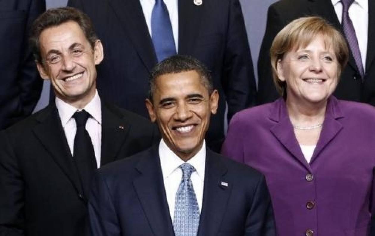 Τηλεφωνική επικοινωνία Ομπάμα με Μέρκελ - Σαρκοζί