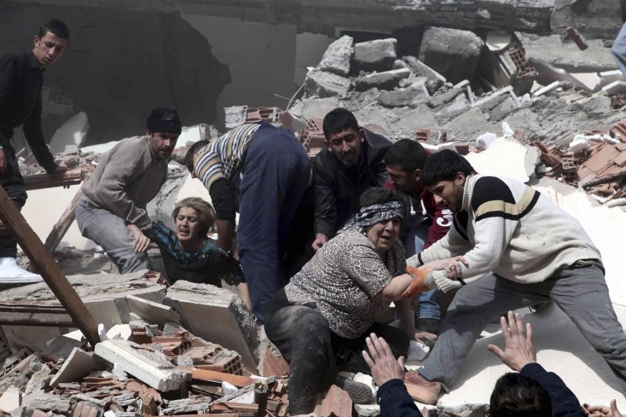 Ανθρωπιστική βοήθεια στην Τουρκία από τη Λέσβο