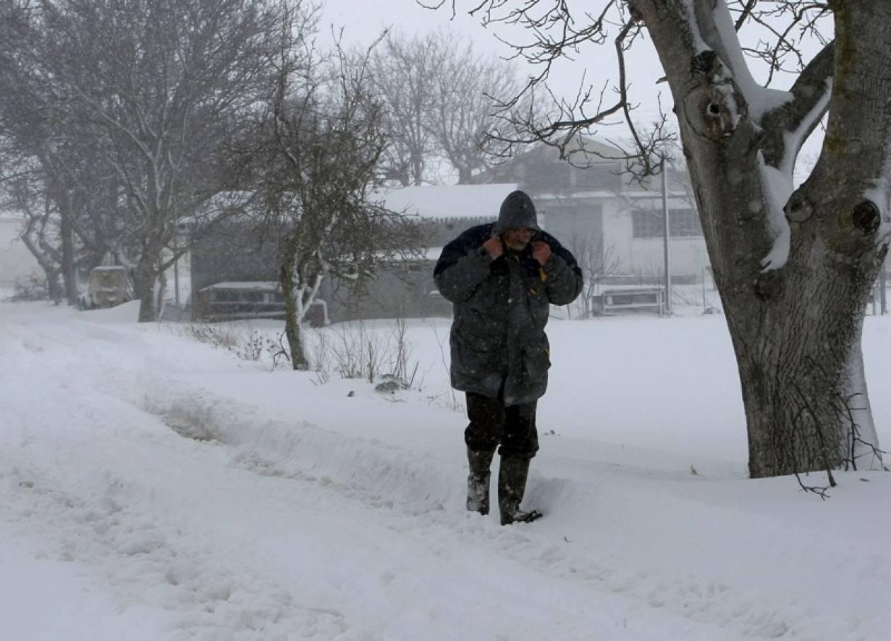 Αποκλεισμένα από τα χιόνια τα Χάνια Πηλίου