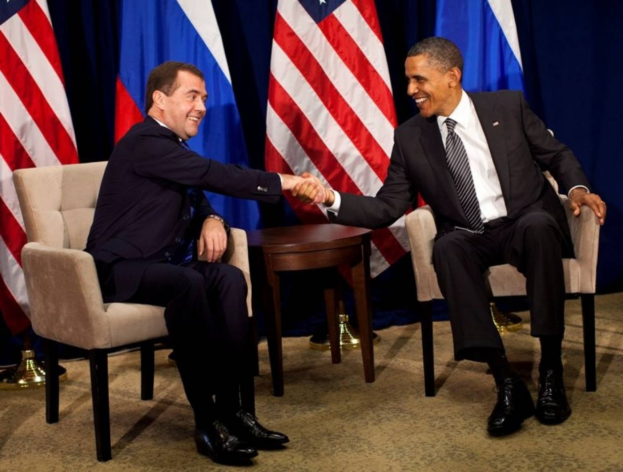 Συνάντηση Ομπάμα – Μεντβέντεφ