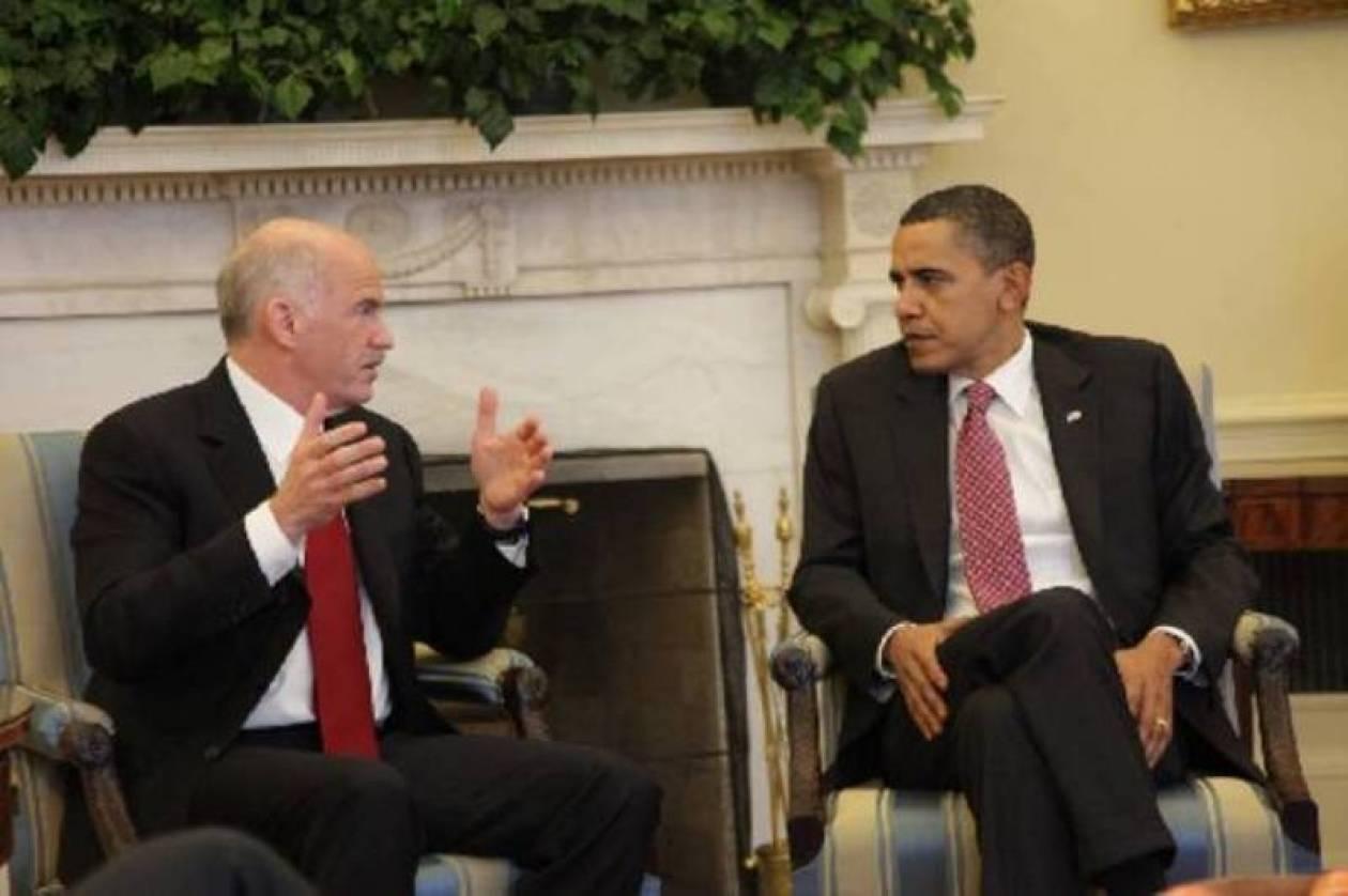 Ο Ομπάμα πήρε τηλέφωνο τον Παπανδρέου
