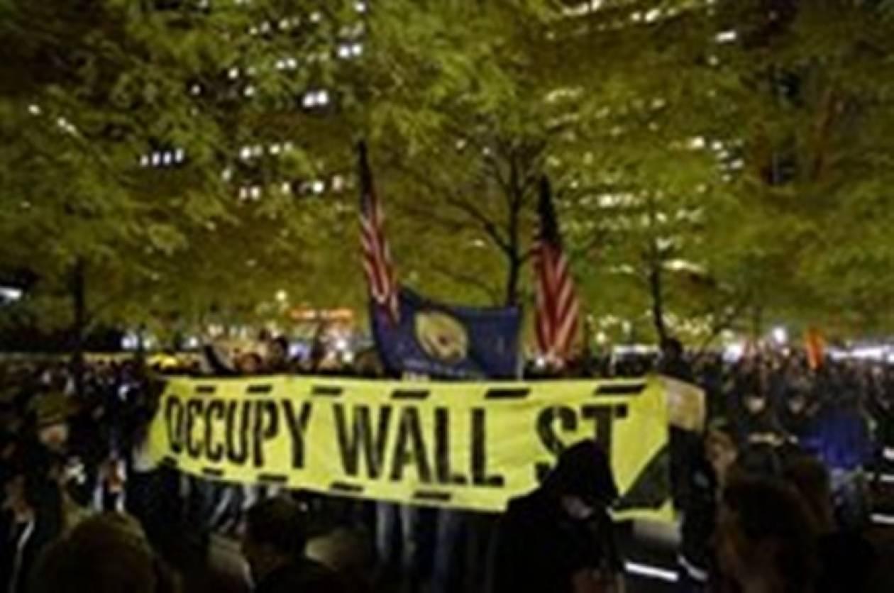 Στο πάρκο Ζουκότι επέστρεψαν διαδηλωτές στη Ν. Υόρκη