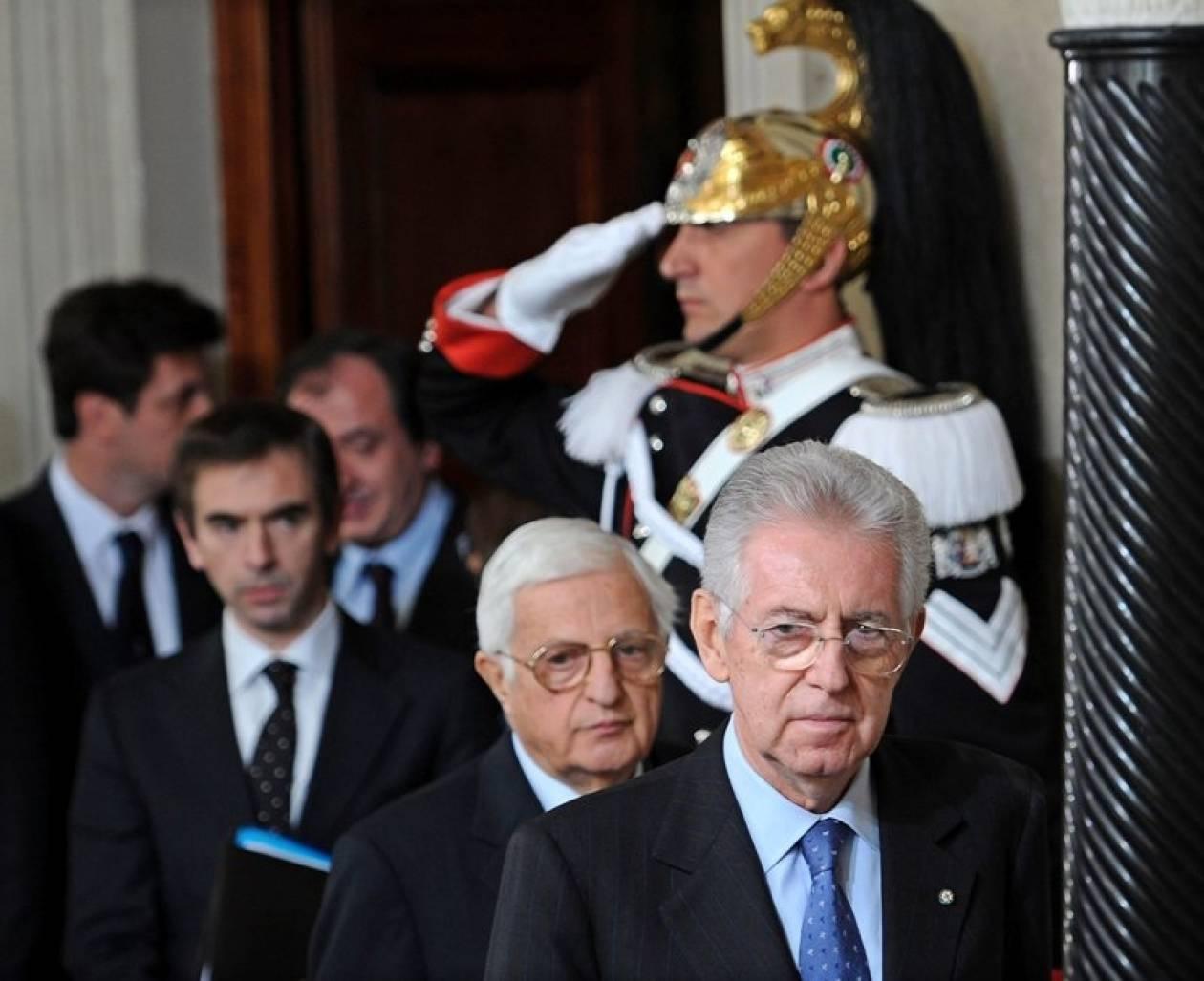Ιταλία: H σύνθεση της νέας κυβέρνησης Μόντι