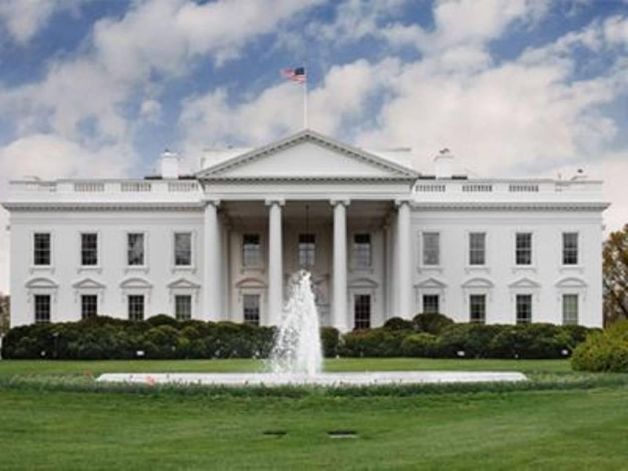 Σφηνωμένη σφαίρα  σε παράθυρο του Λευκού Οίκου