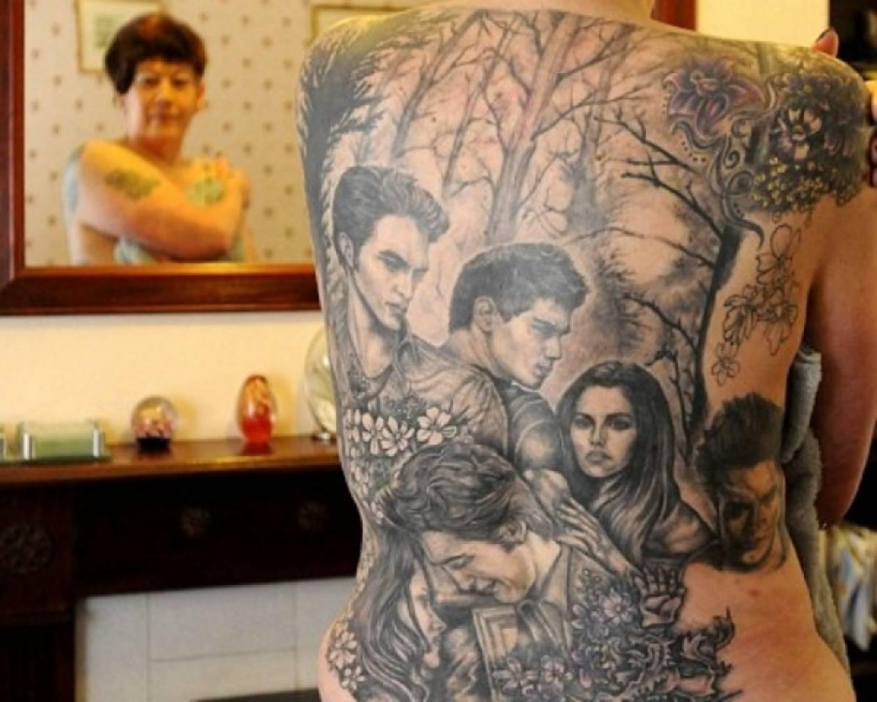 Γέμισε το σώμα της τατουάζ Twilight!