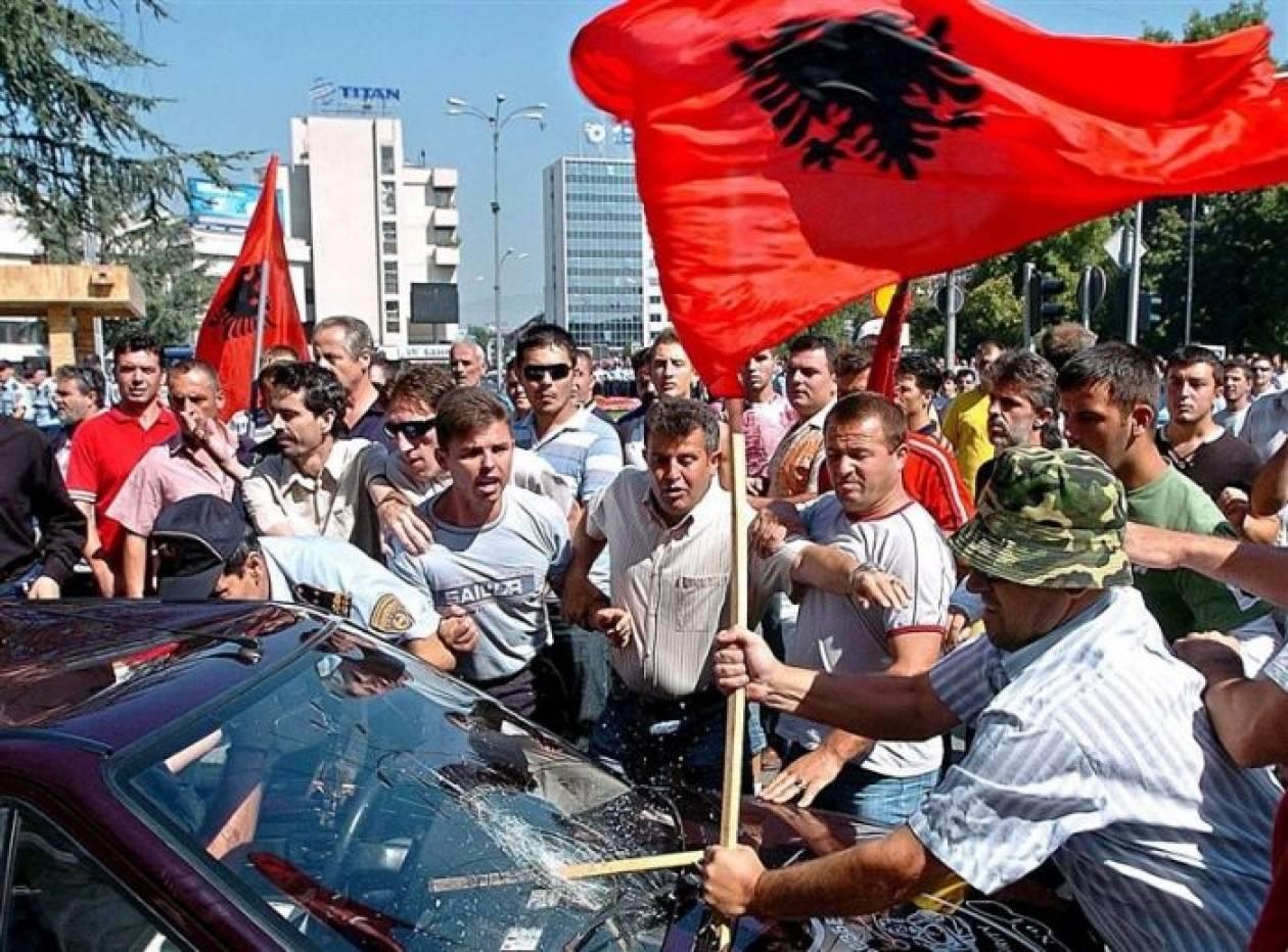 Έκρυθμη η κατάσταση μεταξύ Αλβανών και Σκοπιανών