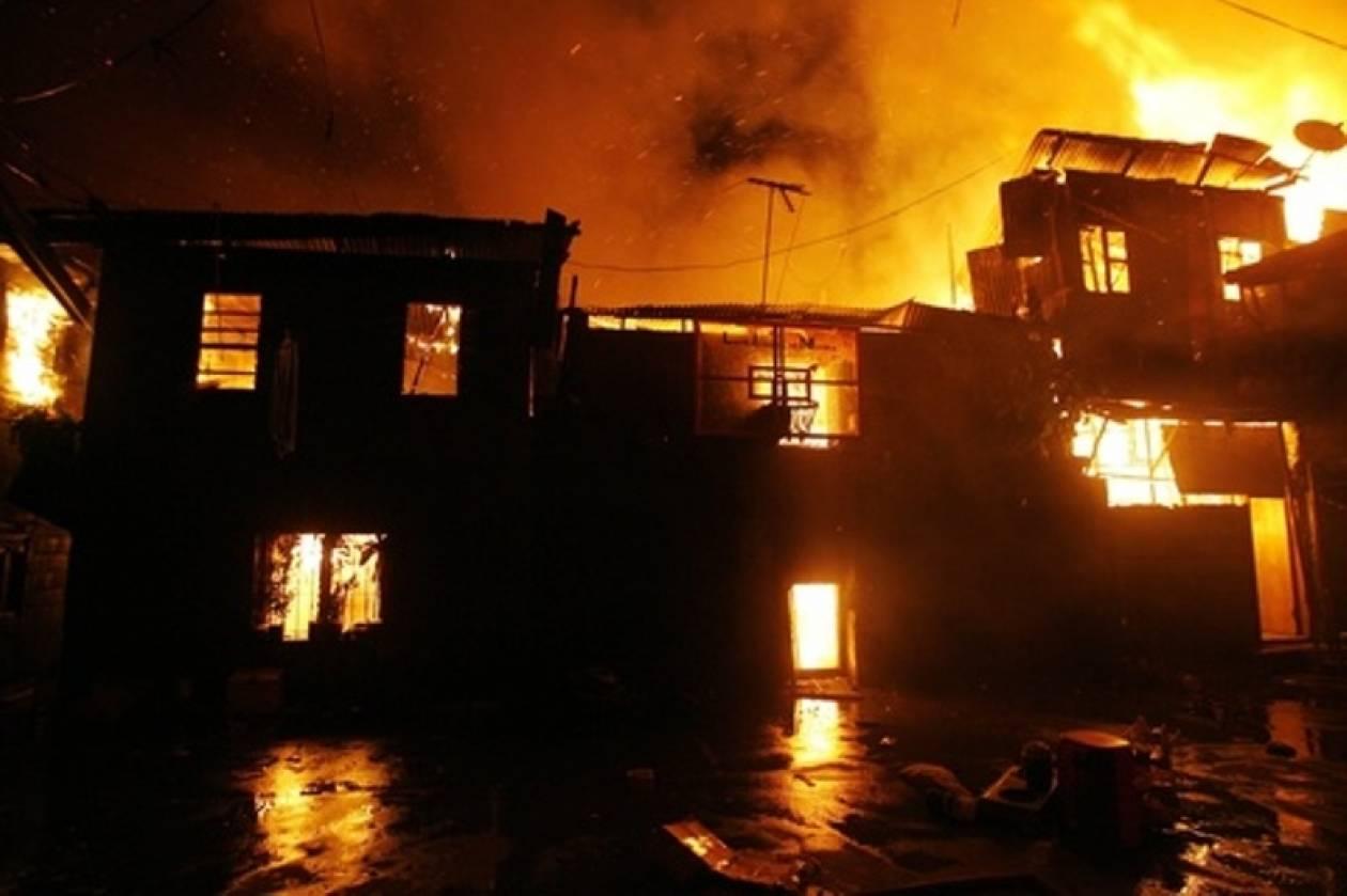 Καταστροφική πυρκαγιά σάρωσε τις Φιλιππίνες