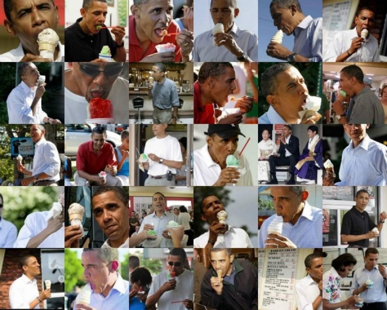 Όταν ο Obama τρώει παγωτό οι bloggers κάνουν… πάρτυ!