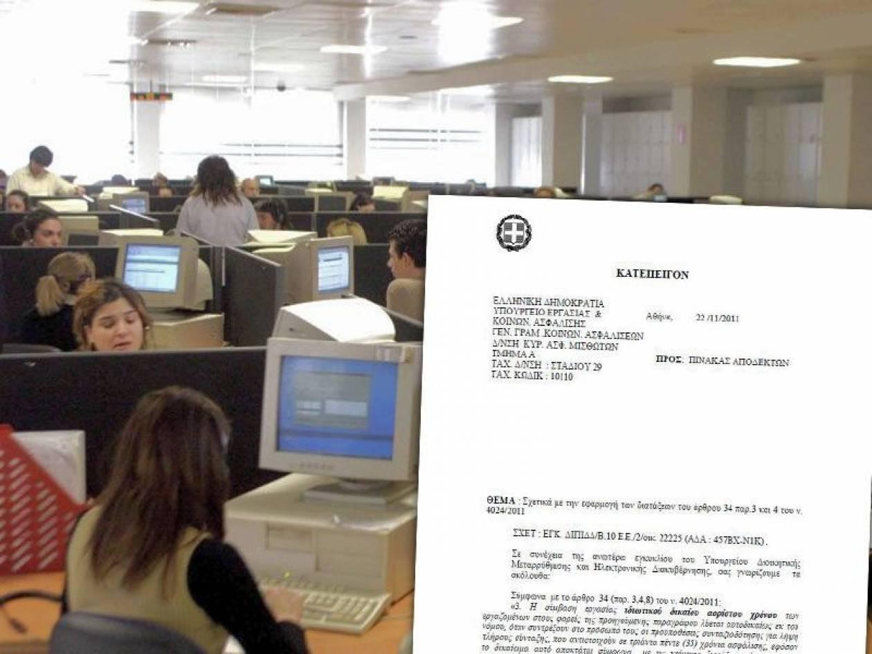 Ποιοι θα τεθούν σε εργασιακή εφεδρεία μέχρι το 2013