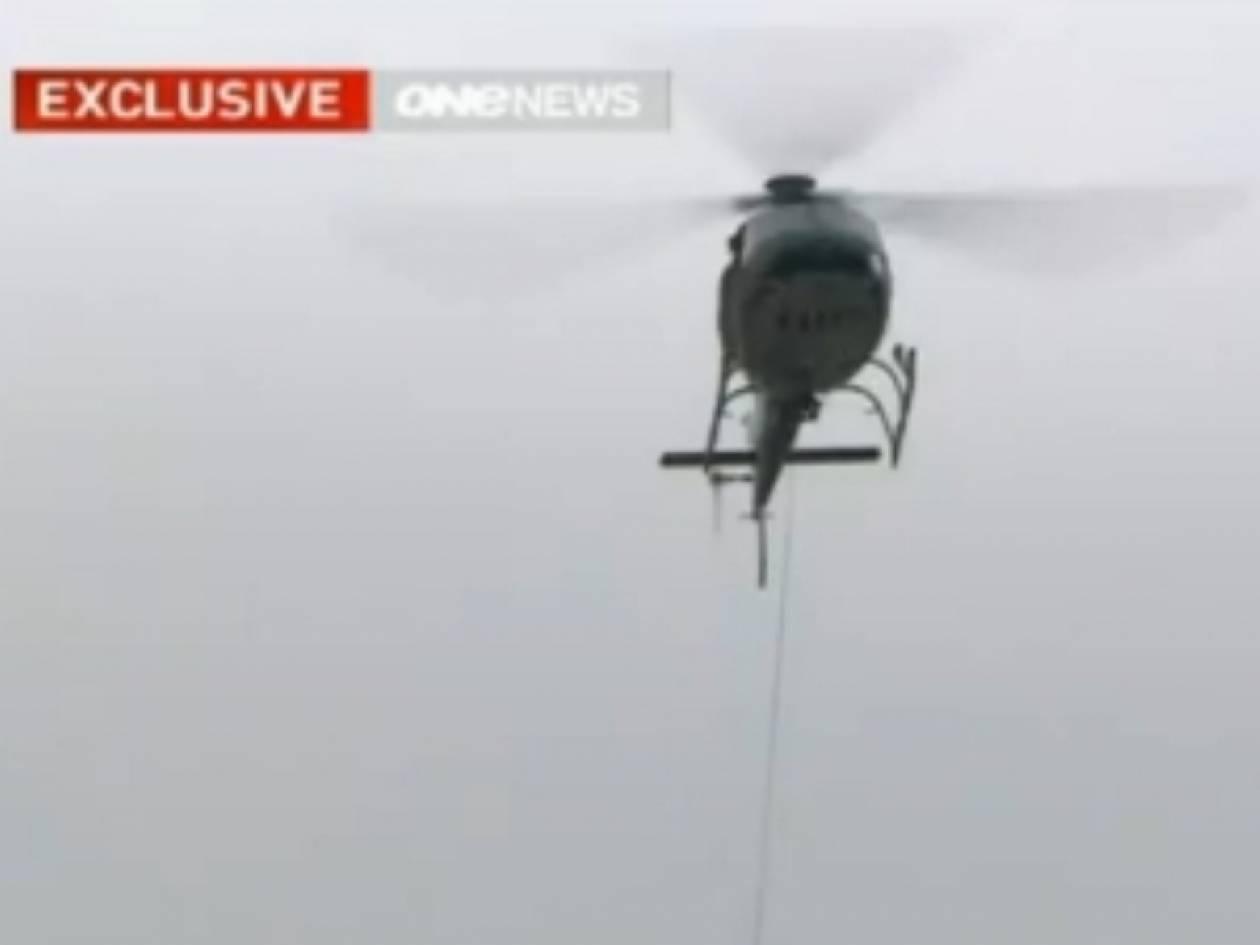 Ελικόπτερο έπεσε μπροστά στην κάμερα