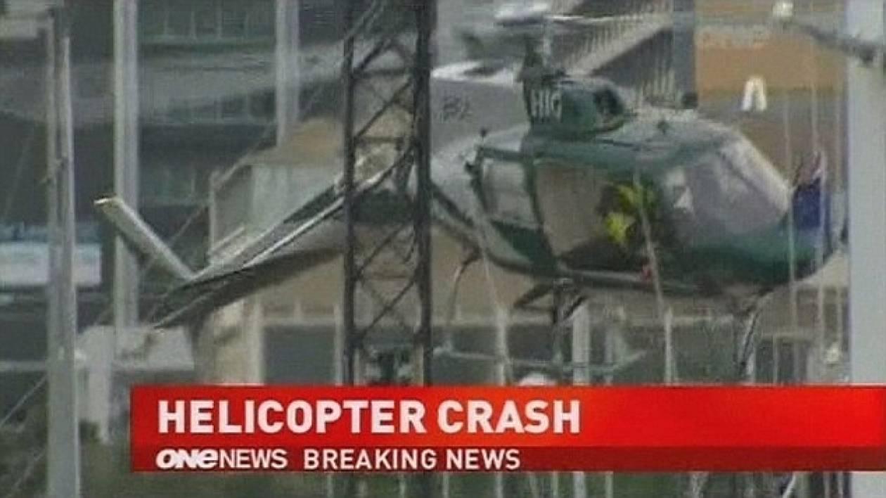 Ελικόπτερο έπεσε σε χριστουγεννιάτικο δέντρο