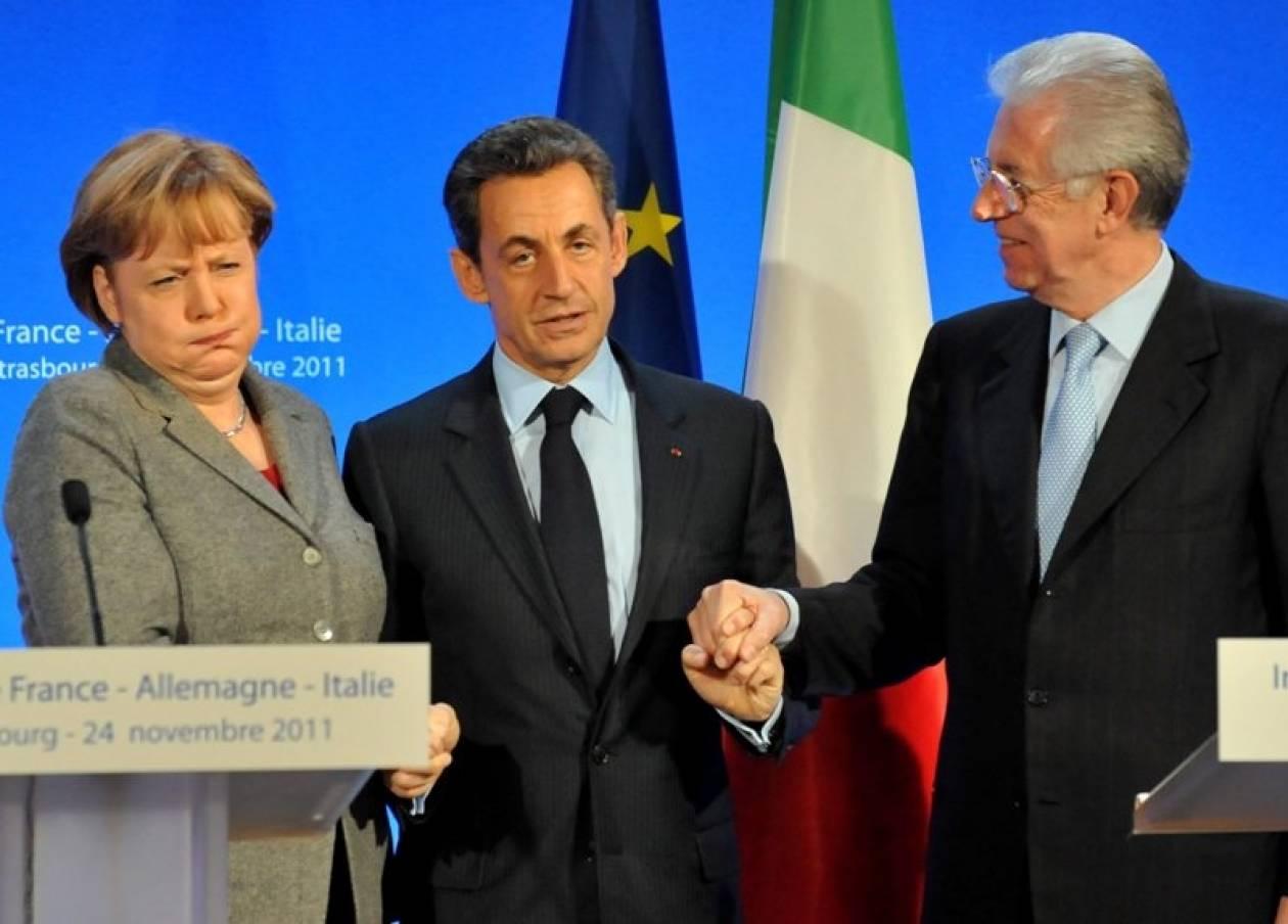 Μόντι-Μέρκελ-Σαρκοζί: «Θα κάνουμε τα πάντα για το ευρώ»